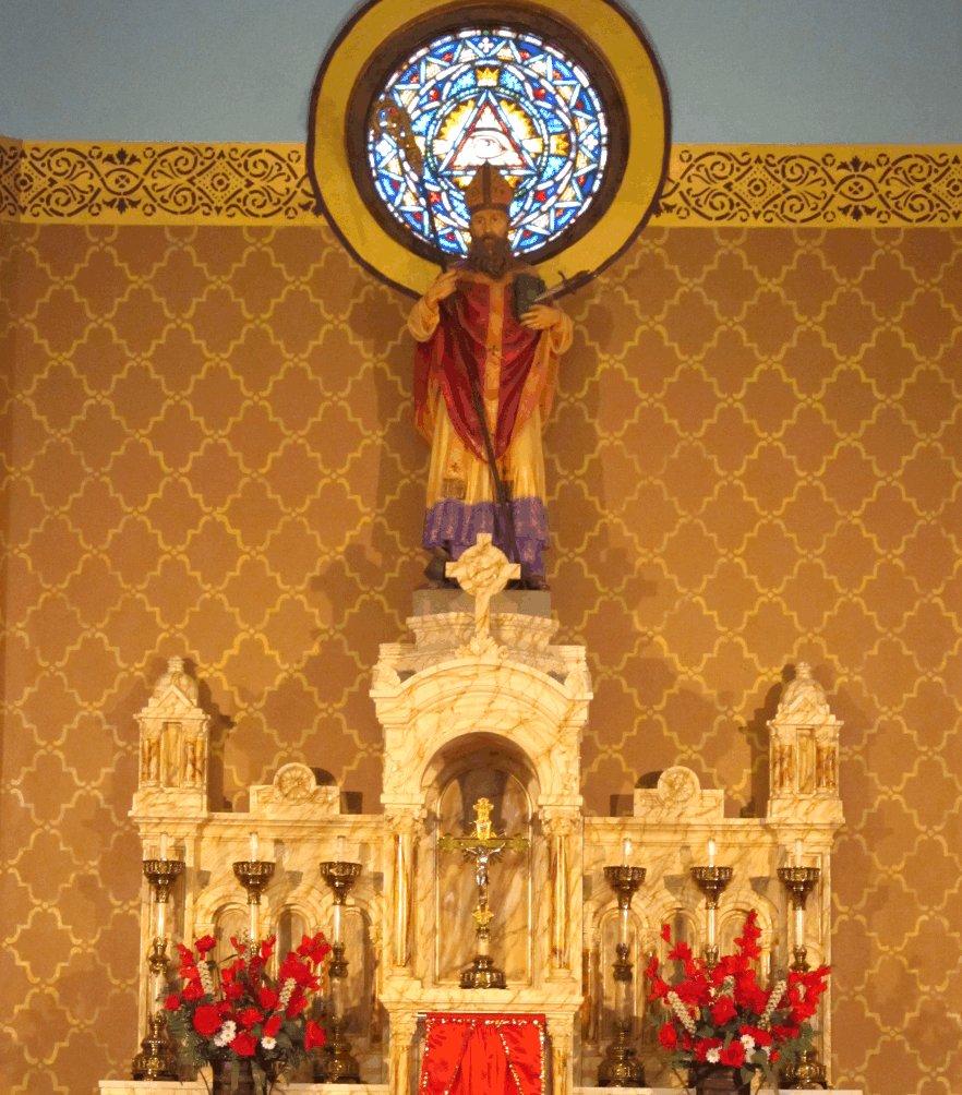 Large Moorish Trellis In Church Walltowallstencils Com