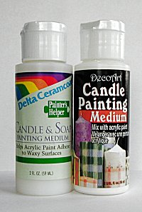 Candle And Soap Stencil Paint Medium