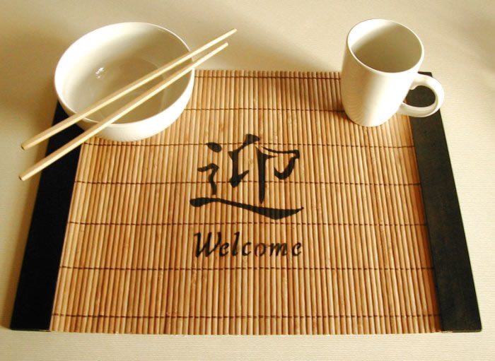 Asian oriental placemats