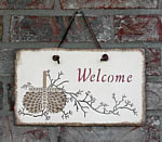Slate Welcome Sign - example